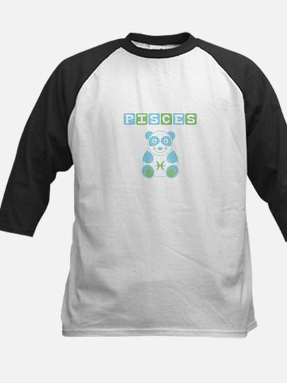 Pisces Bear - Blue Kids Baseball Jersey