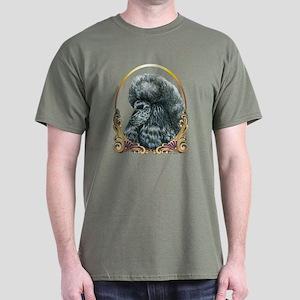 Black Poodle Christmas Dark T-Shirt