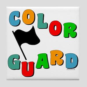Colorful Guard Tile Coaster