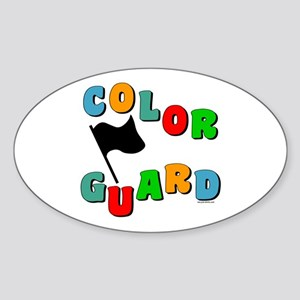 Colorful Guard Oval Sticker (10 pk)