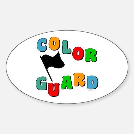 Colorful Guard Oval Sticker (10 pk)