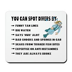 How to Spot a Scuba Diver Mousepad