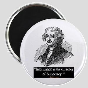 JEFFERSON DEMOCRACY QUOTE Magnet