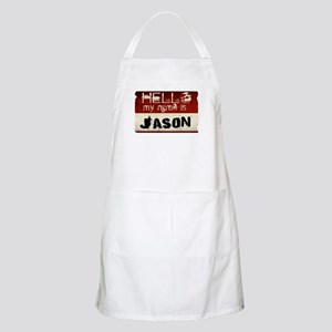 My name is Jason BBQ Apron