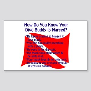 Scuba Buddy Narced? Rectangle Sticker