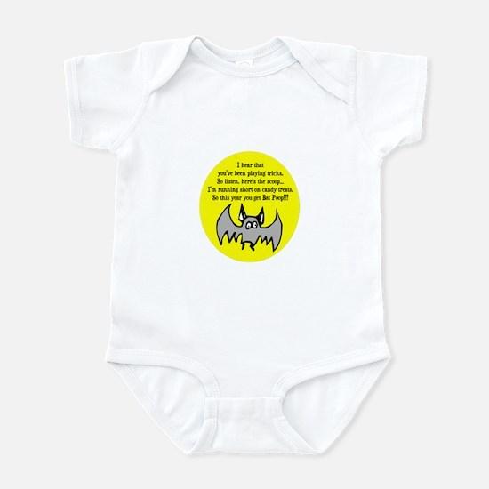 BAT POOP HALLOWEEN DESIGN Infant Bodysuit
