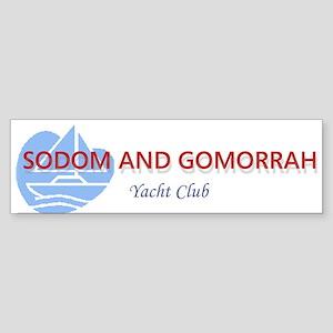 Sodom And Gomorrah Yacht Club Bumper Sticker