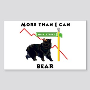 More Than I Can Bear Market Rectangle Sticker