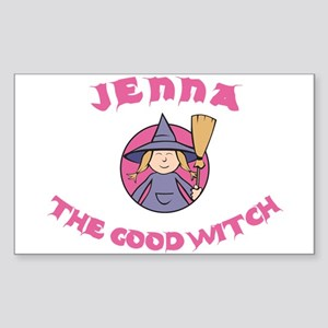 Jenna The Good Witch Rectangle Sticker