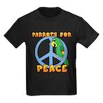 Parrots for Peace Kids Dark T-Shirt