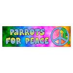 Parrots for Peace Bumper Sticker