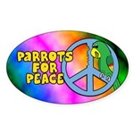 Parrots for Peace Oval Sticker