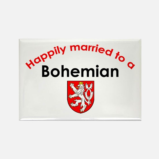 Happily Married Bohemian 2 Rectangle Magnet