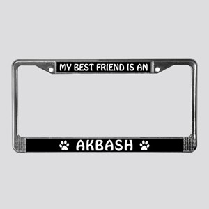 My Best Friend is an Akbash License Plate Frame