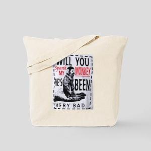 Spank my monkey Tote Bag