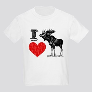 I Love Moose Kids Light T-Shirt