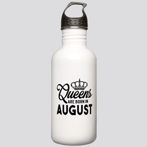 Queens Are Born In August Water Bottle