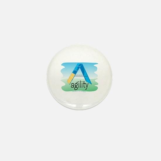 Watercolor A-Frame Mini Button