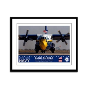 Blue Angels C-130 Hercules Framed Panel Print