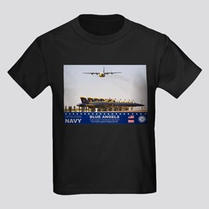 Blue Angels C-130 Hercules Kids Dark T-Shirt