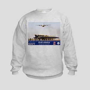 Blue Angels C-130 Hercules Kids Sweatshirt