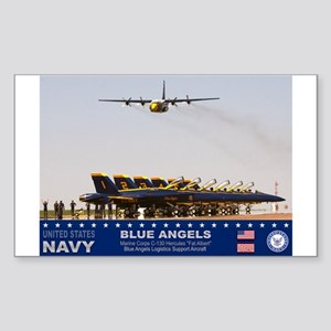 Blue Angels C-130 Hercules Rectangle Sticker