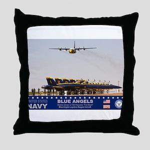 Blue Angels C-130 Hercules Throw Pillow