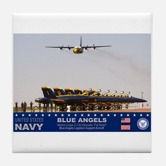 Blue Angels C-130 Hercules Tile Coaster