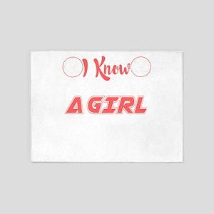 I Know I Play Like A Girl Soccer T- 5'x7'Area Rug