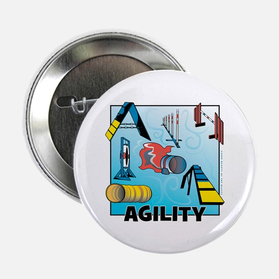 """Woodcut Agility Obstacles 2.25"""" Button"""