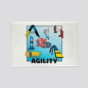 Woodcut Agility Obstacles Rectangle Magnet