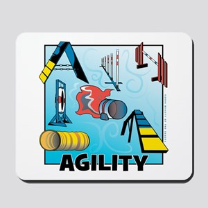 Woodcut Agility Obstacles Mousepad