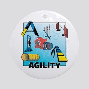 Woodcut Agility Obstacles Ornament (Round)