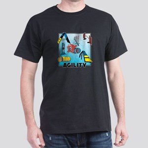 Woodcut Agility Obstacles Dark T-Shirt