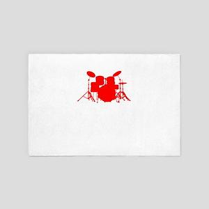 I Destroy Silence Drums T-Shirt 4' x 6' Rug
