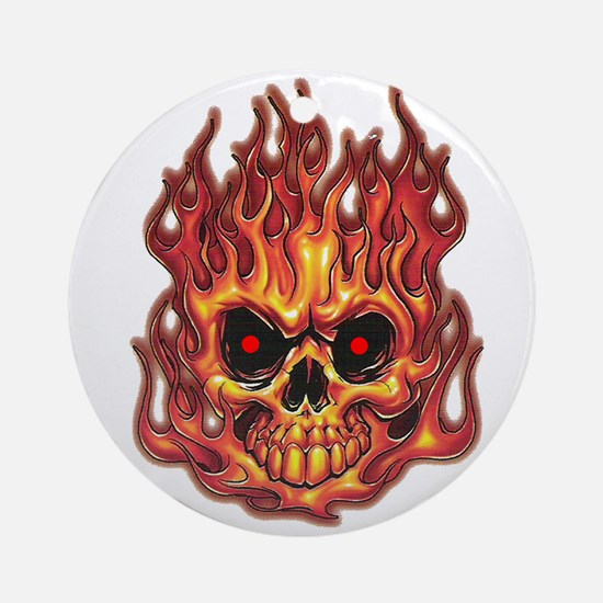 Death's Flames Ornament (Round)