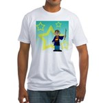 Monkey Wizard Fitted T-Shirt