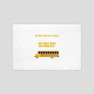 School Bus Driver T-Shirt For School B 4' x 6' Rug