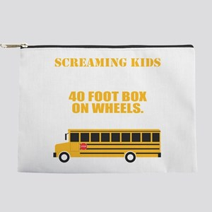 School Bus Driver T-Shirt For School Bu Makeup Bag