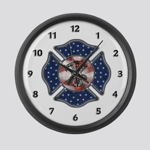 Firefighter USA Large Wall Clock