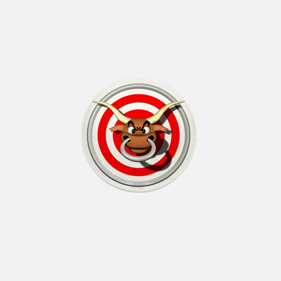 Bulls Eye Mini Button