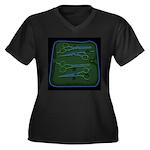 ROSEMARY Sni/pets Women's + Size V-Neck T-Shirt