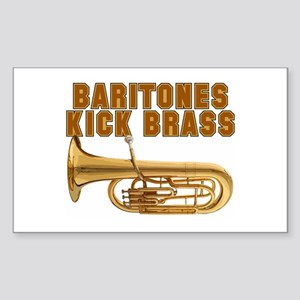 Baritones Kick Brass Rectangle Sticker