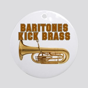Baritones Kick Brass Ornament (Round)