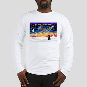 XmasSunrise/Poodle (min) Long Sleeve T-Shirt