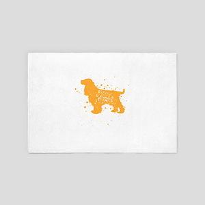 English Cocker Spaniel Dog Gift T-Shir 4' x 6' Rug