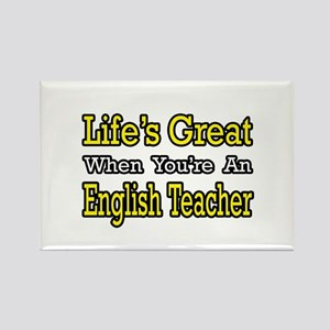 """Great...English Teacher"" Rectangle Magnet"