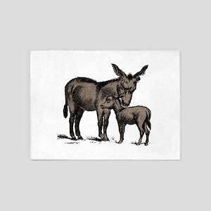 Donkeys 5'x7'Area Rug