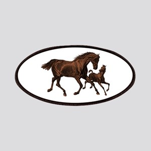Chestnut Mare and Foal Patches