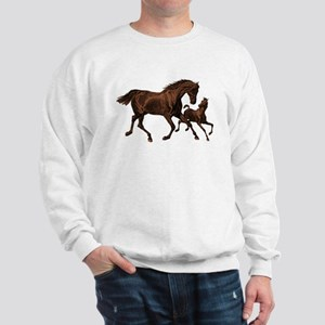 Chestnut Mare and Foal Sweatshirt
